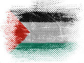 The Palestinian flag — Stock Photo
