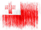 Tonga flag drawn on white background with colored crayons — Stock Photo