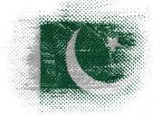 The Pakistani flag — Stock Photo
