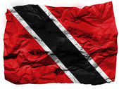 Trinidad and Tobago flag painted on crumpled paper — Stock Photo