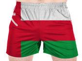 オマーンの国旗描スポーツ シャツ — ストック写真