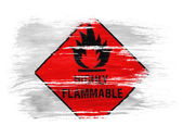 Highly flammable sign drawn on on white background — Stok fotoğraf