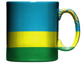 Ruanda flag painted on coffee mug or cup — Photo