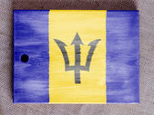Barbados. Barbadian flag painted over wooden board — Stock Photo