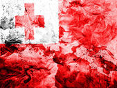 Tonga flag painted dirty and grungy paper — Stock Photo