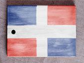 The Dominican Republic flag — Stock Photo