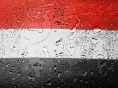 The Yemeni flag — Stock Photo