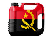 Angola. Angolan flag — Stock Photo