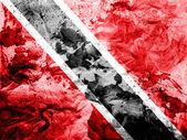 Trinidad and Tobago flag painted dirty and grungy paper — Stock Photo