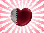 De vlag van Qatar — Stockfoto