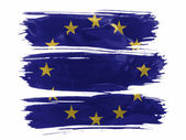 Europe Union flag painted on painted with three strokes of paint in white — Stock Photo