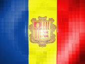 Andorra flag on wavy plastic surface — Stock Photo