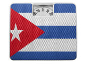 The Cuban flag — Stock Photo