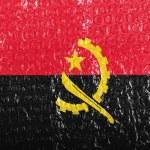 Постер, плакат: Angola Angolan flag painted on bubblewrap