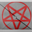 Stock Photo: Pentagram symbol painted on painted on grey envelope