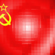The USSR flag painted on on wavy plastic surface — Stock Photo #23450494