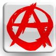 Anarchy symbol painted on glossy icon — Stock Photo