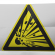 Explosive sign drawn on painted on simple paper sheet — Stock Photo #23454142
