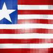 Stock Photo: Liberia. Liberiflag on wavy plastic surface