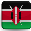 Kenya flag painted on glossy icon — Stock Photo