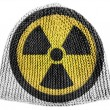 Nuclear radiation symbol painted on — Stock Photo #23457470