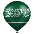 Stock Photo: Saudi Arabiflag on baloon
