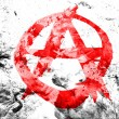 Stock Photo: Anarchy symbol painted dirty and grungy paper