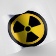 Nuclear radiation symbol painted on — Stock Photo #23458360