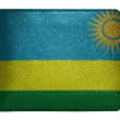 Ruanda flag painted on leather wallet painted on leather wallet - Stock Photo