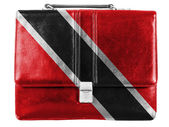 Trinidad and Tobago flag painted on small briefcaseor leather handbag — Stock Photo
