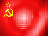 The USSR flag painted on on wavy plastic surface — Stock Photo