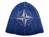 NATO symbol painted on painted on cap — Stock Photo