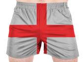 England. English flag painted on sport shirts — Stock Photo