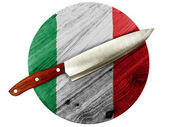 The Italian flag — Stock Photo