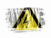 Electric shock sign painted on painted with watercolor on wet white paper — Stock Photo