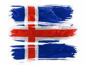 The Icelandic flag — Stock Photo