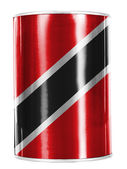 Trinidad and Tobago flag painted on shiny tin can — Stock Photo