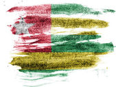 Togo flag painted on paper with colored charcoals — Fotografia Stock