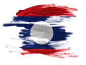 The Laotian flag — Foto Stock