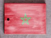 Die marokkanische Flagge — Stockfoto
