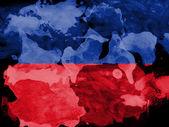 The Haitian flag — Stock Photo