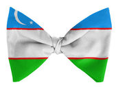 Uzbekistan flag on a bow tie — Stock Photo