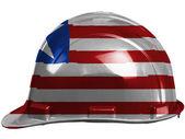 Liberia. Liberian flag painted on safety helmet — Stock Photo