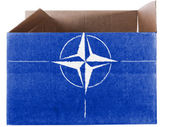 NATO symbol painted on carton box or package — Photo