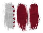 The Qatari flag — Stockfoto