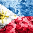 Philippine flag painted dirty and grungy paper - Stock Photo