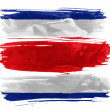 The Costa Rica flag - Stock Photo