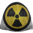 Stock Photo: Nuclear radiation symbol painted on painted on cap