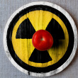 Stock Photo: Nuclear radiation symbol painted on