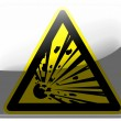 Explosive sign drawn on painted on square interface icon — Stock Photo #23465968